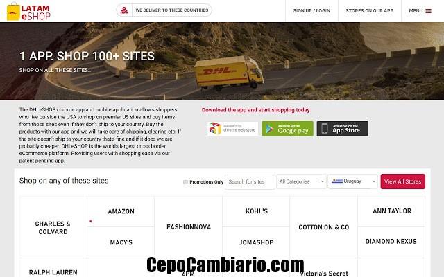 DHL LATAM eSHOP comprá en más de 100 sitios de USA y recibilo en tu casa