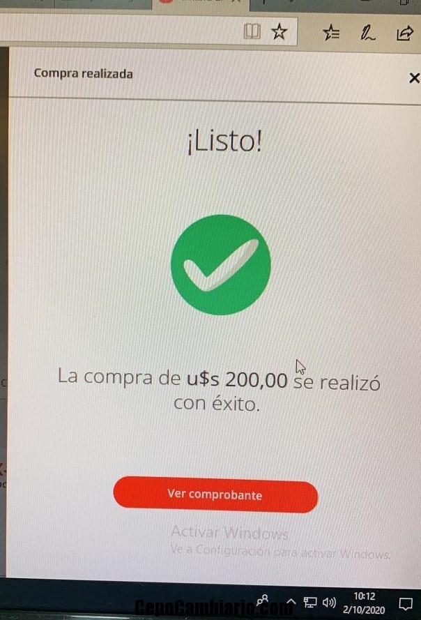 Pude comprar Dólar Ahorro, ya somos 2, CFK y yo
