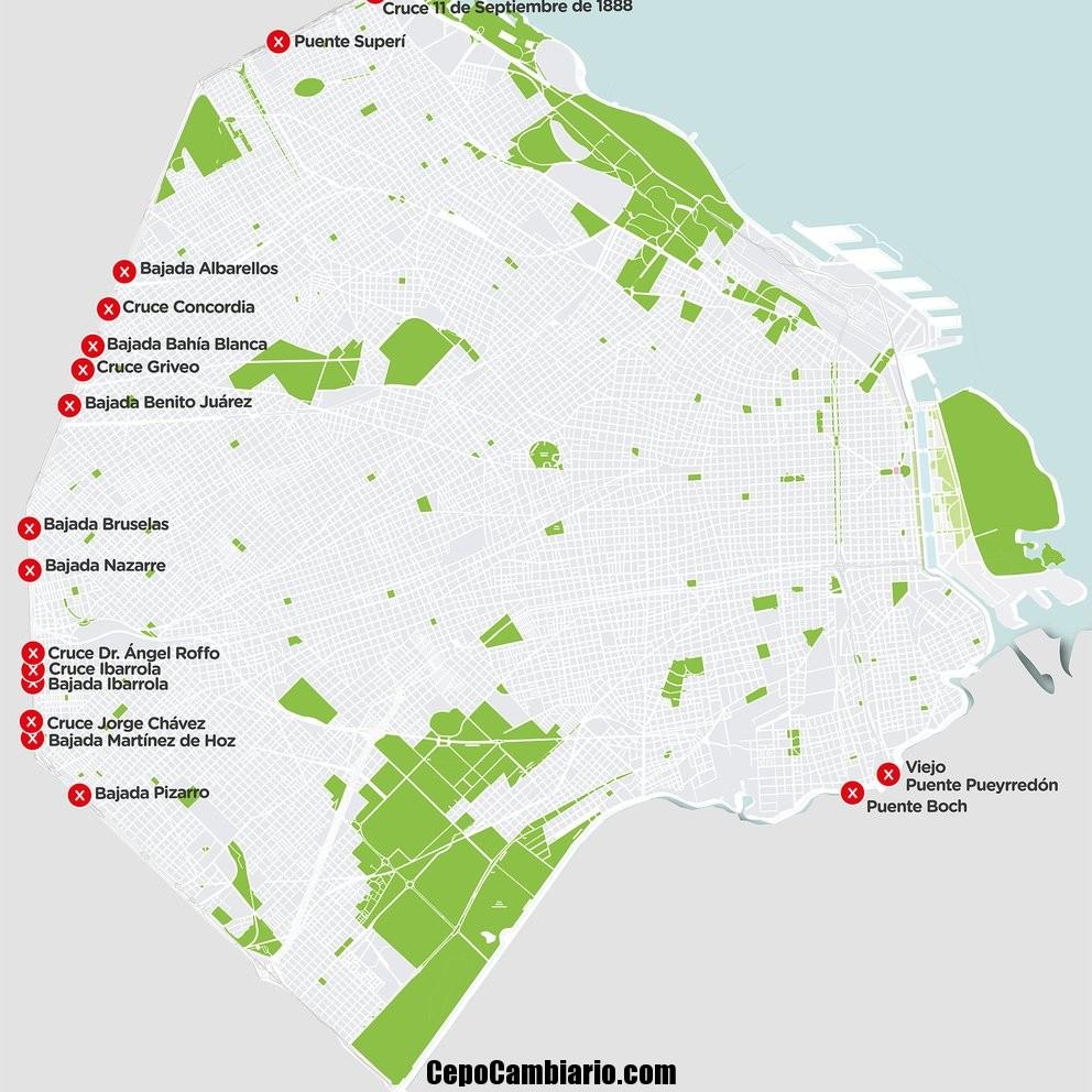 Estaciones de subte cerradas y dónde están los controles para el ingreso a la ciudad de Buenos Aires