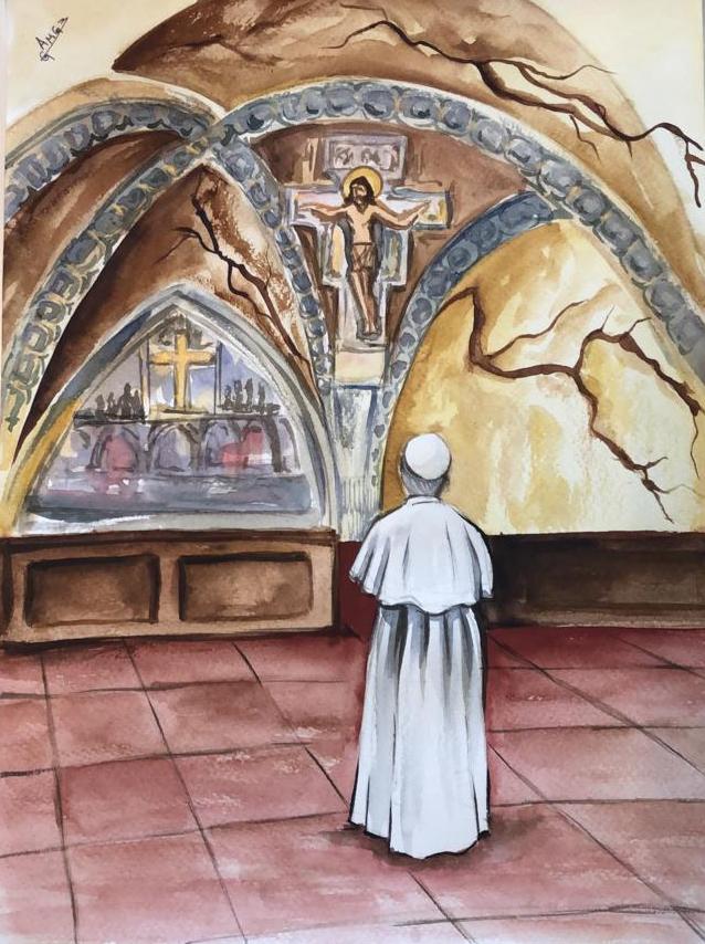 Francisco ve y reconstruye mi Iglesia