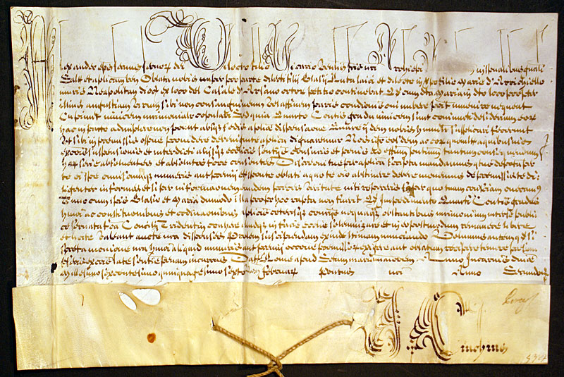 Papal Bull Dated 1656 Pope Alexander VII D 1599 675