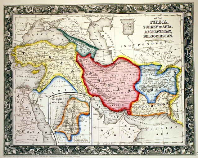 MAP OF PERSIA       c 1860   Mitchell    MAP OF PERSIA       c 1860   Mitchell