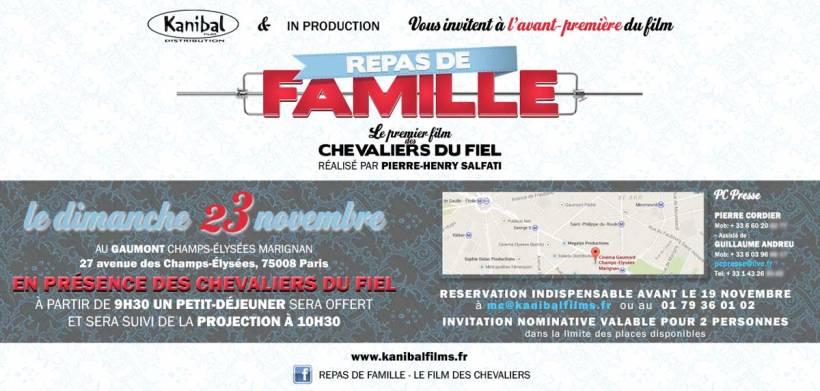 Invitation à L Avant Première De Repas Famille Des Chevaliers Du