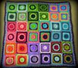 Daisy Square Granny Blanket - Cera Boutique