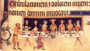 Dining_room_scene_from_the_Luttrell_Psalter