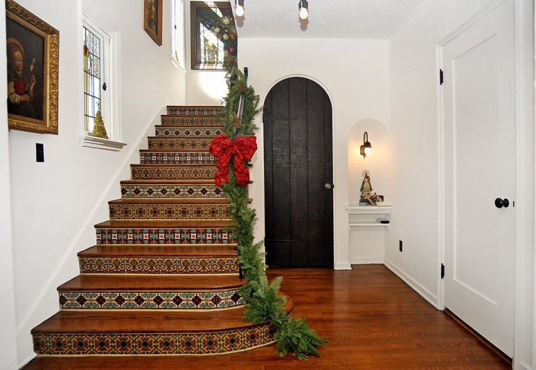 spainsh tiles stairs hand painted