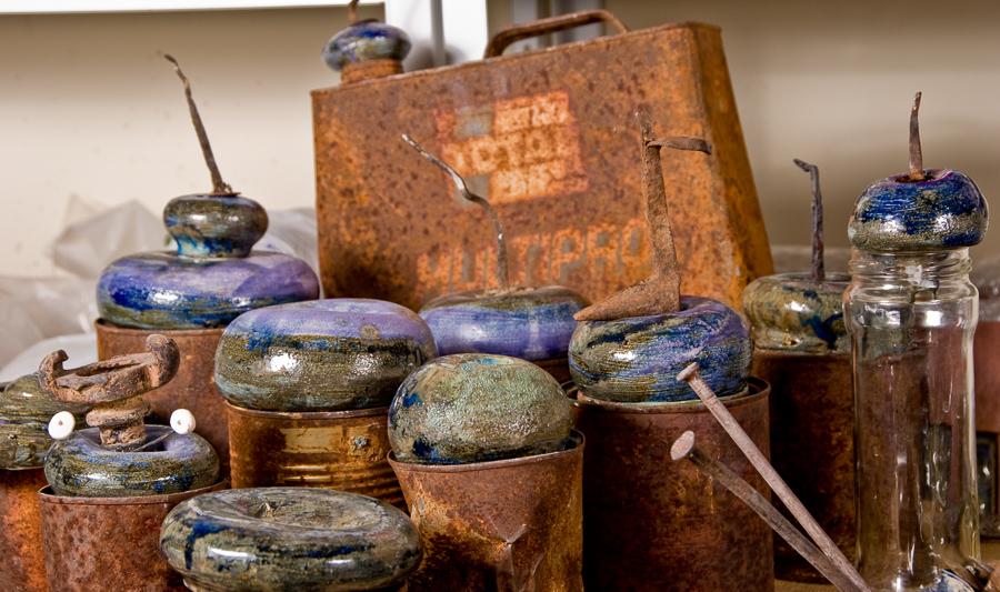 reciclaje oxido obra cerámica fango