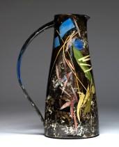 Sophie_MacCarthy_ Tall Jug 32cm 'leaves, stalks, shapes'