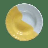 จานก้นลึก 8 นิ้ว สีเหลือง