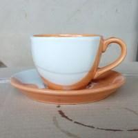 ชุดกาแฟ 200 cc.สีส้ม