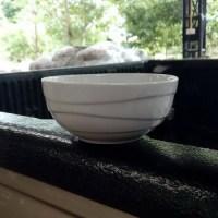 ชามลายคลื่น 5″ สีขาว
