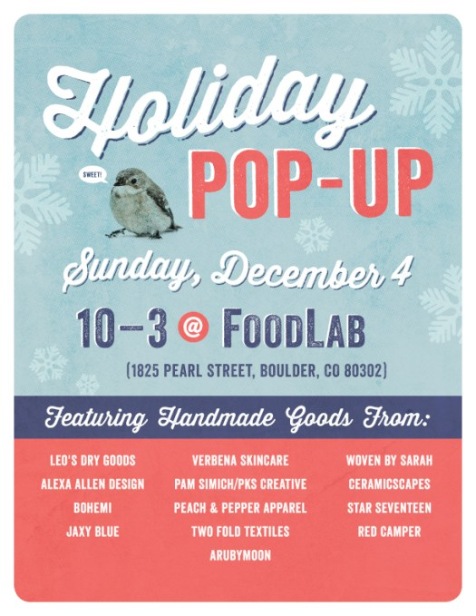 Holiday Pop Up at the Food Lab Boulder