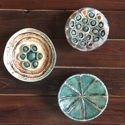 Ceramicscapes - Ceramic Seed Pod Wall Art Trio Glazed