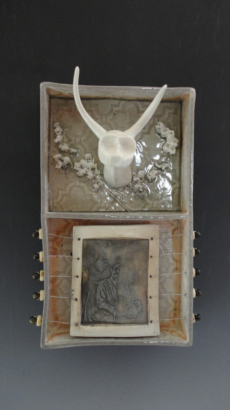 Sarah Christensen Ceramics - Ceramic Wall Curio Box Untitled