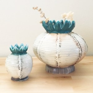 Ceramicscapes - Seed Pod Inspired Vases