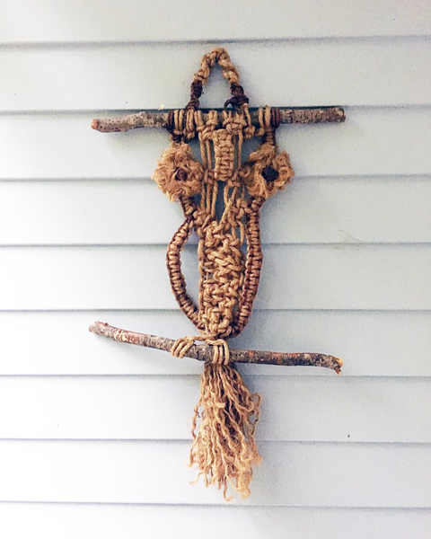Patti Hardee - Macrame Owl Wall Hanging from the 70's