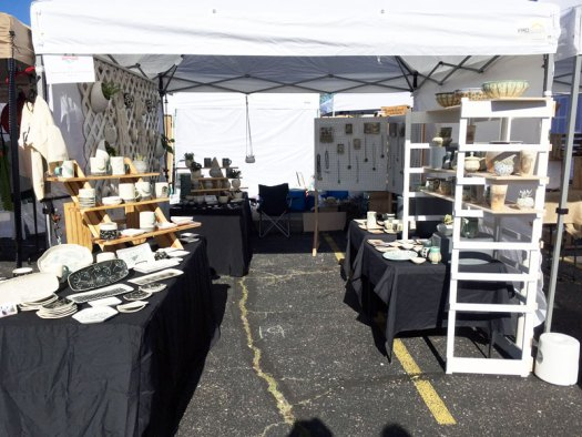 CeramicScapes - Spring Horseshoe Market Booth Set Up