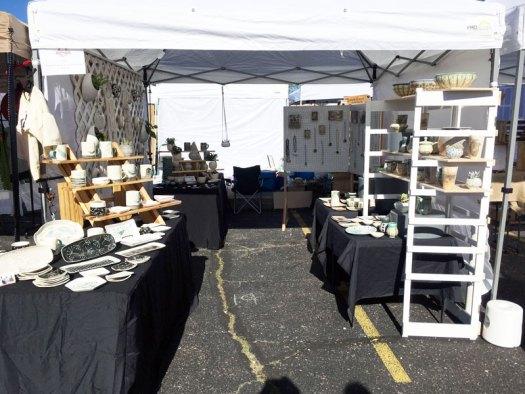 CeramicScapes - Spring Horseshoe Market Booth Set Up