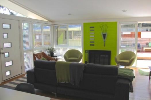 Jamie Kelly's Living Room in His Mid Century Modern Home