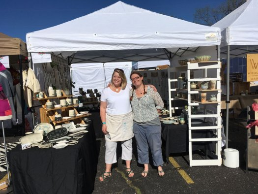 Spring Horseshoe Market Wrap-Up - Me (on left) and Sarah Christensen