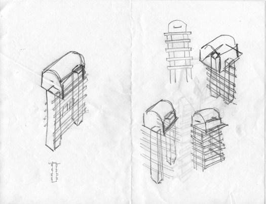 Cindy Guajardo Mailboxes Sketches