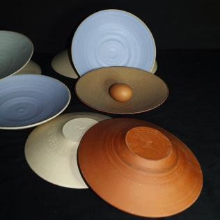 """Collection """"Les pastels"""" - Ceramic Studio - Grès émaillé- Cuisson Haute température"""