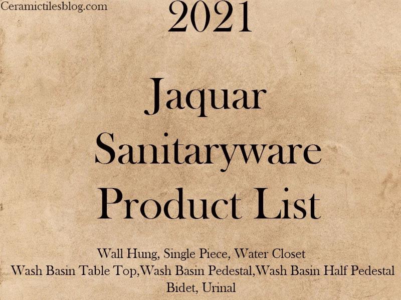 Jaquar Sanitary Price List 2021