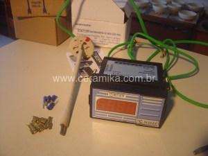 termopar e leitor digital para forno ceramico