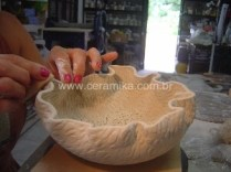 porcelana decorada com texturas