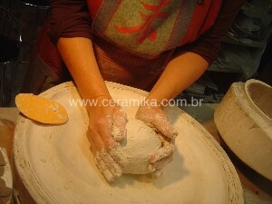 preparo de massa de porcelana