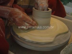 tecnica marble em porcelana