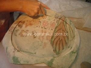 porcelana colorida em tecnica nerikomi