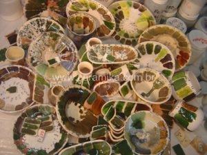 experimentos de vidrados ceramicos
