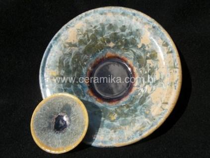 esmalte cristalino em teste ceramico