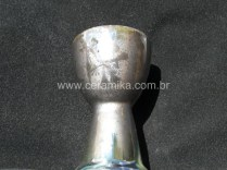 macro cristal em goblet ceramico