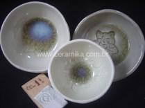 testes com esmalte celadon
