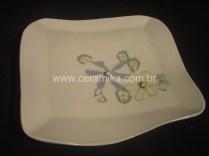 prato quadrado em porcelana