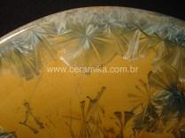 macro cristais em vidrado ceramico