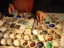teste de esmaltes cristalinos