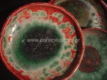 cristalizações em vidrado ceramico