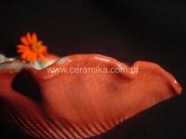 esmalte vermelho peça ceramica