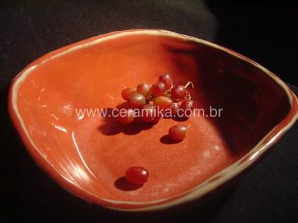 esmalte vermelho queima em redução