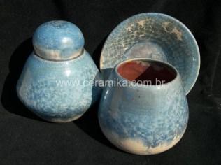 peças esmaltadas com vidrado cristalino