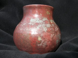 pote em ceramica stoneware com cristalizações