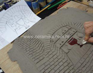 esmalte ceramico vermelho redução