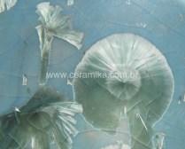 cristais verdes peça ceramica