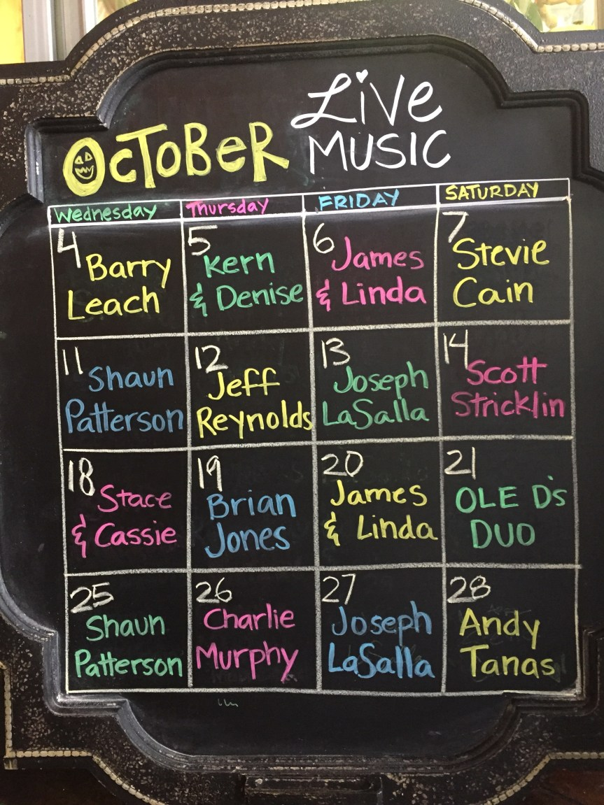 OCTOBER LIVE MUSIC