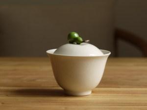 Dehua Handmade Gourd Green Kungfu Gaiwan sEtCeramitique