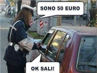 Sono 50 euro. Ok sali