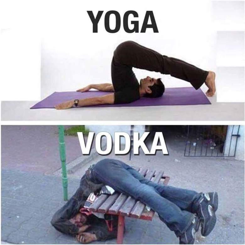Yoga, vodka